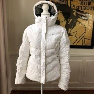Nike Puffer Coat Hood Winter White Medium